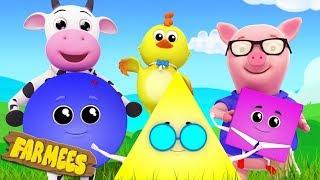 Shapes Song | Kindergarten Learning Videos for Kids | Nursery Rhymes by Farmees