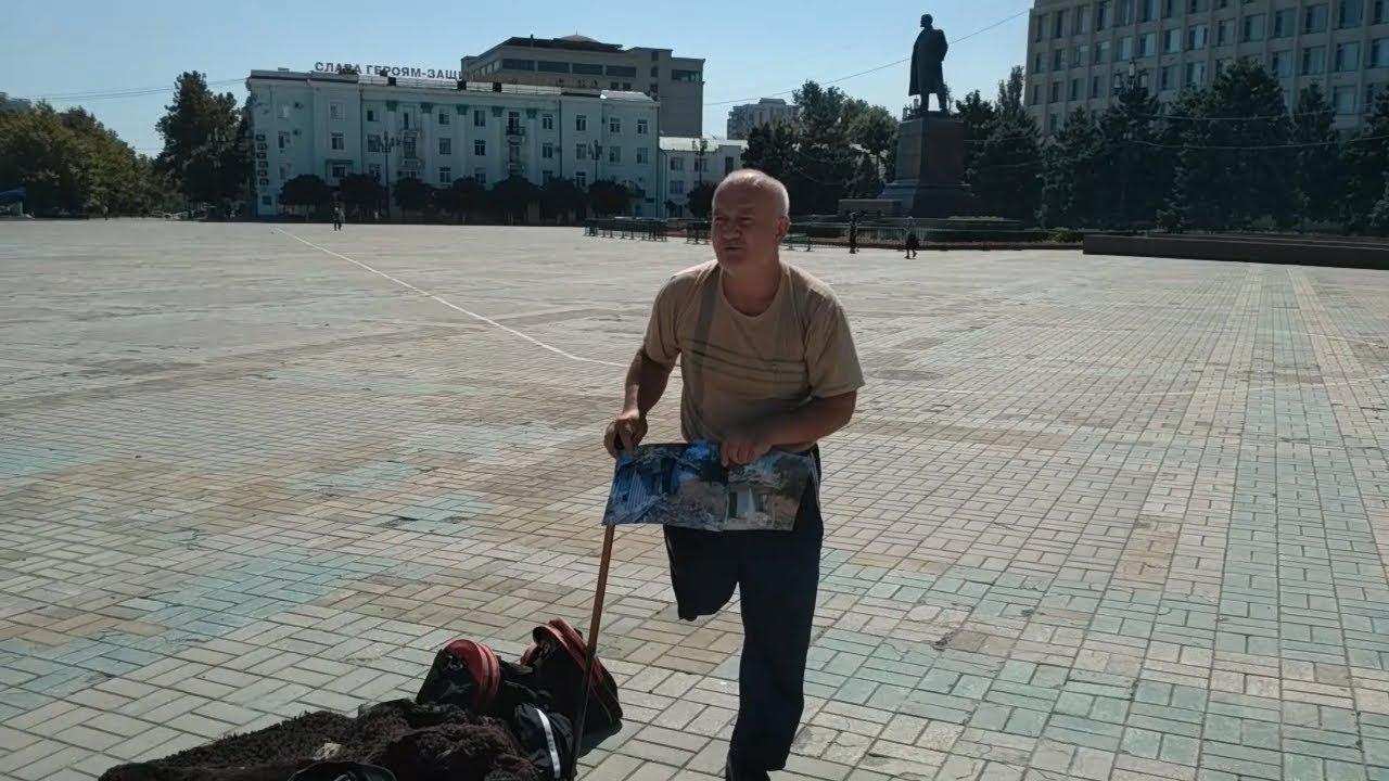 Одиночный пикет за право на жилье (Дагестан)