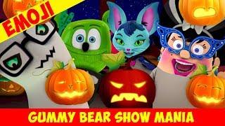 """Halloween"" with PUMPKIN EMOJIS - Gummy Bear Show MANIA"