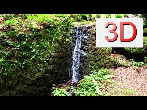 3D Nature: One Hour Waterfall Relaxation #5 and Bird Songs