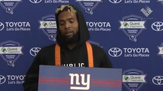 Odell Beckham Jr. on leaving practice early today