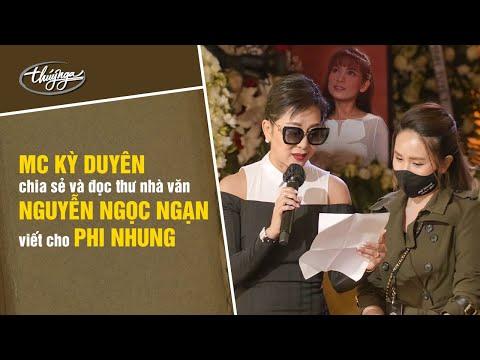 MC Nguyễn Cao Kỳ Duyên chia sẻ và đọc thư Nhà Văn MC Nguyễn Ngọc Ngạn viết cho Phi Nhung
