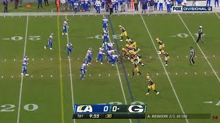 Aaron Rodgers Fast Tempo Surprises Rams Defense | Rams vs Packers