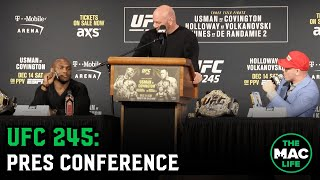 UFC 245 Press Conference: Colby Covington gets booed relentlessly by New York crowd