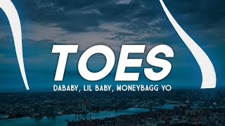 DaBaby - Toes (Clean - Lyrics) ft. Lil Baby & Moneybagg Yo