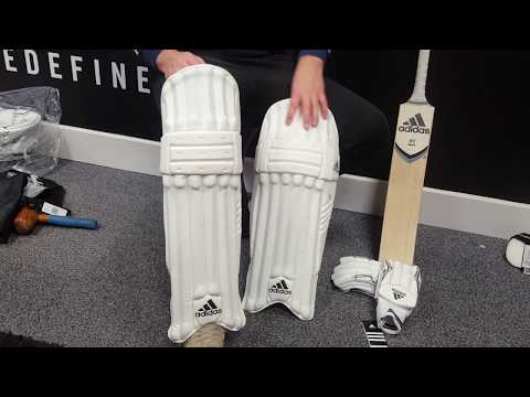 Adidas XT White 3.0 Cricket Bat BUNDLE (includes XT 3.0 Batting Pads & Batting Gloves)