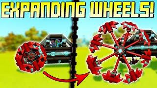 Impractical Engineering: Expanding Wheels! - Scrap Mechanic Gameplay