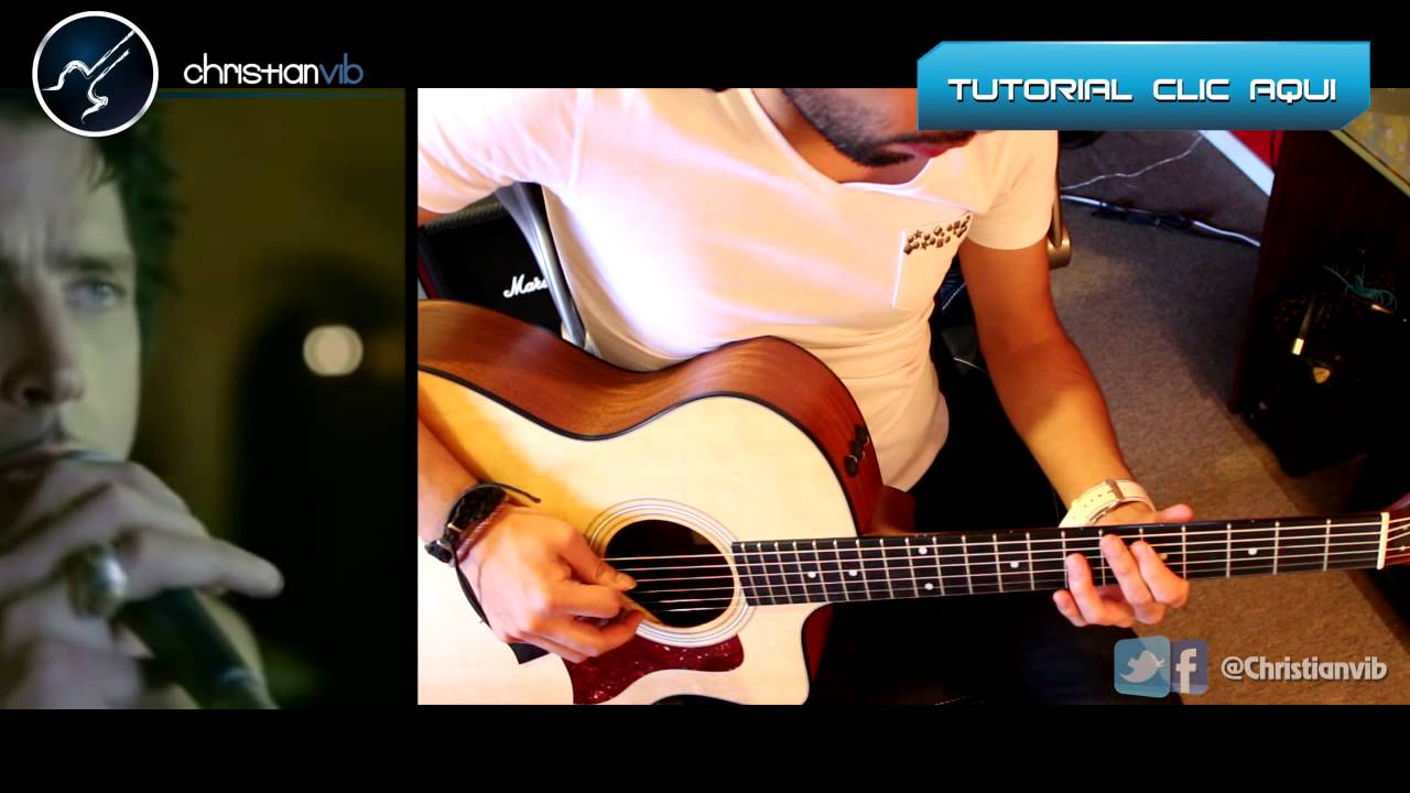 like a stone audioslave acoustic cover guitar tutorial solo youtube. Black Bedroom Furniture Sets. Home Design Ideas