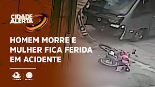 Homem morre e mulher fica ferida em acidente no centro de Fortaleza