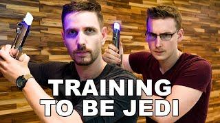 J and Ben vs. DARTH VADER - Star Wars: Jedi Challenges Hands-On!!