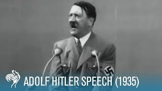 Adolf Hitler: Speech at Krupp Factory in Germany (1936) | British Pathé