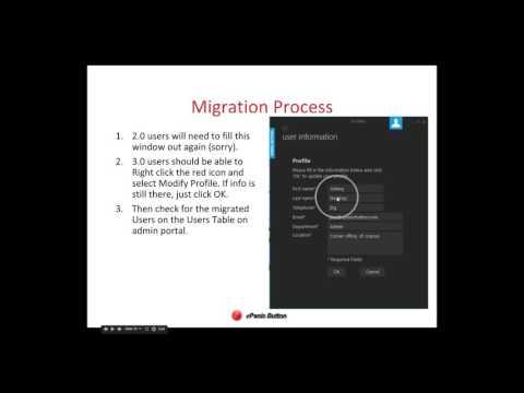 Migration to ePanic Button 4 0