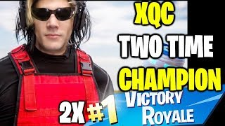 xQc First Solo Wins | The Two Time Back to Back Victory Royale Fortnite Champion!
