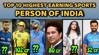 top 10 highest earning sports person of india