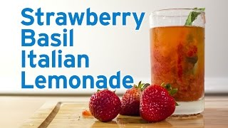 Strawberry Basil Italian Lemonade Recipe video