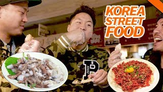 KOREAN STREET FOOD YOU'VE NEVER HAD (Live Octopus & Raw Beef) - Fung Bros Food