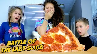 Battle of The Last Slice of Pizza! SuperHeroKids in Real Life Funny Comic Adventure