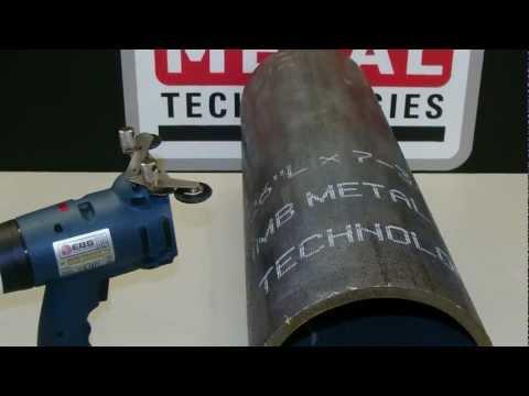 """MB-EBS250 Wireless Ink Jet Marker. """"Pipe Marking Application"""""""