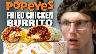Josh Makes a Popeye's Fried Chicken Burrito