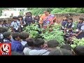 Hyderabad Neelena Techno School students learn roof garden..