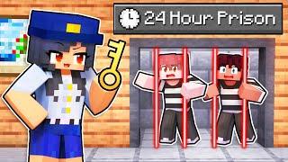 Locking Friends in a 24 HOUR PRISON in Minecraft!