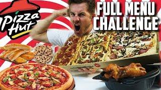 SUPERCHARGED PIZZA HUT MENU CHALLENGE! (10,000+ CALORIES)