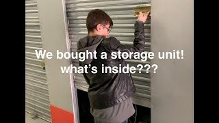 We bought a storage locker! will we find treasure or lose $$$?