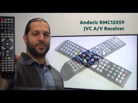 ANDERIC RMC12059 JVC Audio/Video Receiver Remote Control