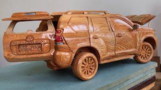 Wood Carving - Toyota PRADO Land Cruiser 2020 - Woodworking Art