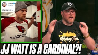 Pat McAfee Reacts To JJ Watt Signing With The Arizona Cardinals