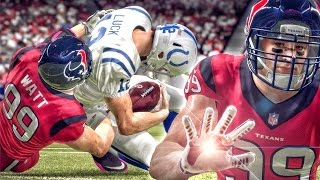 J.J. WATT HARASSING ANDREW LUCK! Madden 16 Career Mode Gameplay Ep. 9