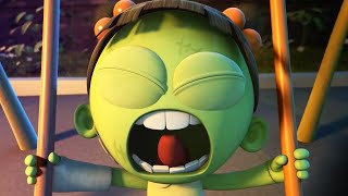 Funny Animated Cartoon   Spookiz Brand New Scary Swing Jump Challenge   Videos For Kids