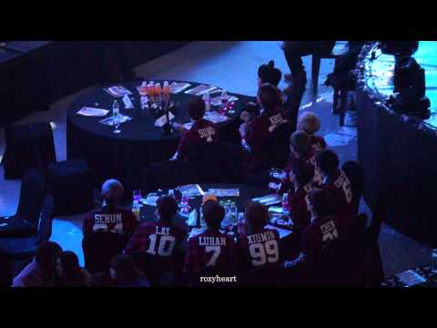 140123 EXO reaction to SHINee's stage @ Seoul Music Awards