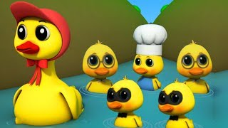 Cinq petits canards | comptines pour enfants | canard chanson | Five Little Ducks | Junior Squad
