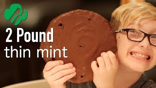DIY Giant Thin Mint - 2 Ingredients - Feat. Mom