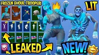 *NEW* Frozen Ghoul Trooper & Skull Trooper Showcase With All Leaked Fortnite Dances..! (Slick, Flux)