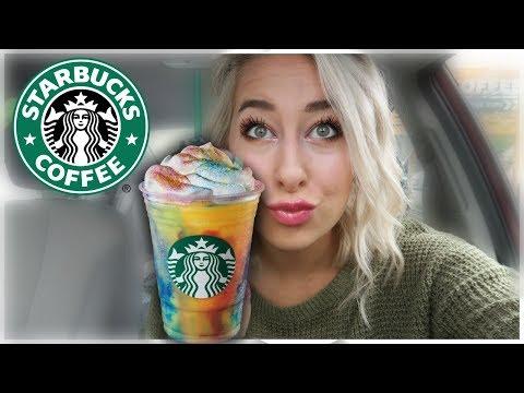 STARBUCKS TIE-DYE Frappuccino!