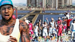SHOWING OFF ON NEW RIVET CITY PARK! NBA 2k16 My Park Gameplay