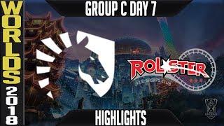 TL vs KT Highlights | Worlds 2018 Group C Day 7 | Team Liquid(NALCS) vs KT Rolster(LCK)