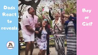 CUTEST DAD REACTIONS TO  BABY GENDER REVEAL COMPILATION { 2018 } DAD'S REACT