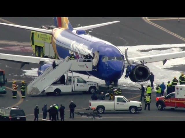 西南航空引擎爆炸 疑因葉片金屬疲勞
