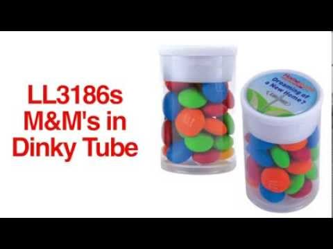 LL3186s M&M's in Dinky Tubes - FI011
