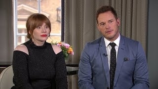 Chris Pratt and Bryce Dallas Howard on physical challenges of Jurassic World: Fallen Kingdom