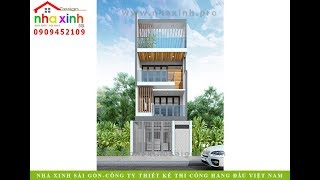 Thiết kế nhà phố đẹp | chị Thùy Trang | Nhà Xinh ®