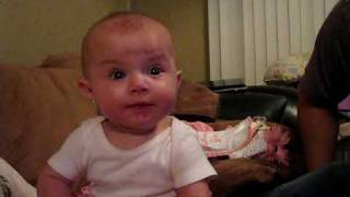 Daddy Scares Baby!! Very Funny Video! – Lilah
