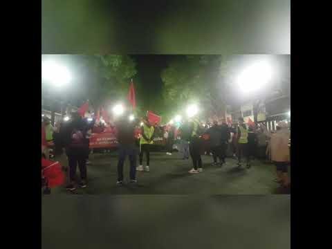 وقفة احتجاجية في طاراغونا ضد البوليساريو