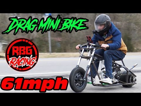 61MPH Drag Mini Bike Run!!!