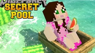 Minecraft: SECRET SWIMMING POOL - HIDDEN BUTTONS 3 - Custom Map