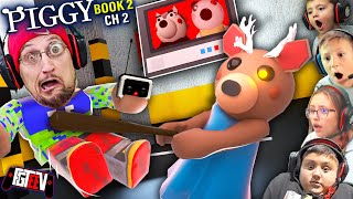 ROBLOX PIGGY BOOK 2: Chapter 2! Mad Reindeer in the Store (FGTeeV vs Dessa Multiplayer Escape)