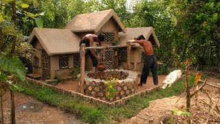Build The Most Beautiful Survival House And Build the Wells out the water